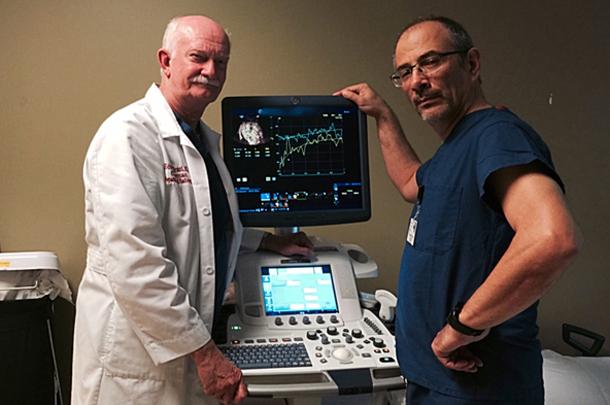 Edward Grant and Hisham Tchelepi of the Department of Radiology.