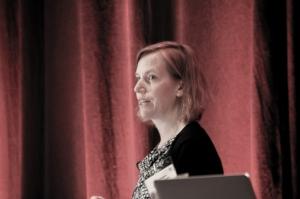 Keynote speaker Amy Wagers of Harvard University.