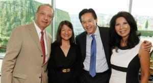Keck School of Medicine of USC Dean Carmen A. Puliafito, Karen Wong, Michael Quon, Jacqeuline Quon.