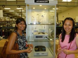 USC Regulatory Science graduates Kunjan Shah and Yue Shen at Stryker Endoscopy in San Jose, CA.