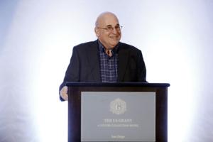 Paul Aisen speaks Jan. 26 at the USC ATRI second annual partnership meeting, held in San Diego.