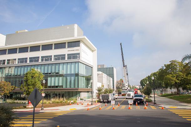 A 7T magnetic resonance imaging (MRI) machine is installed at USC Stevens Hall on Feb. 4, 2017. (Photo/Ricardo Carrasco III)