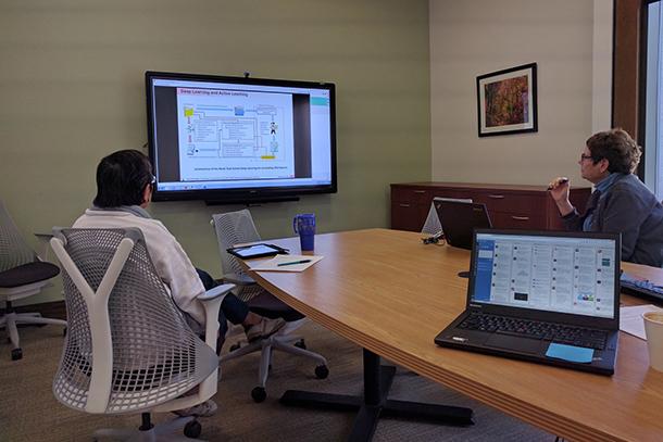 Participants follow along during the big data seminar series from the University of Utah.