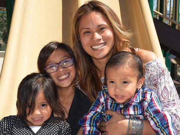 Danielle Cortez and her children