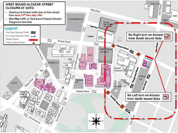 Construction to shift traffic on Alcazar Street