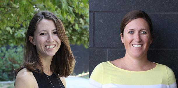 Ksenia Gnedeva, left, and Michaela Patterson
