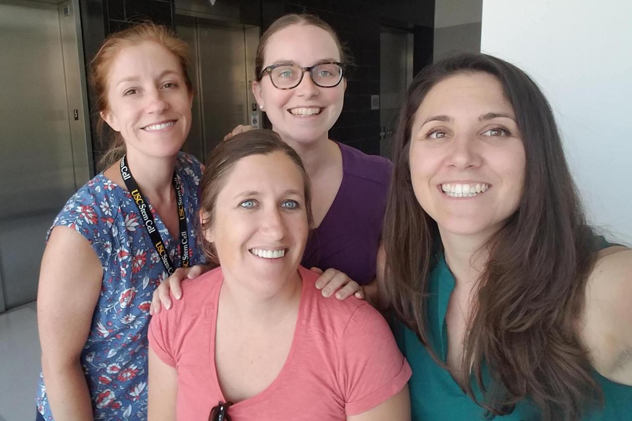 Lindsey Barske, Michaela Patterson, Joanna Smeeton and Kate Galloway