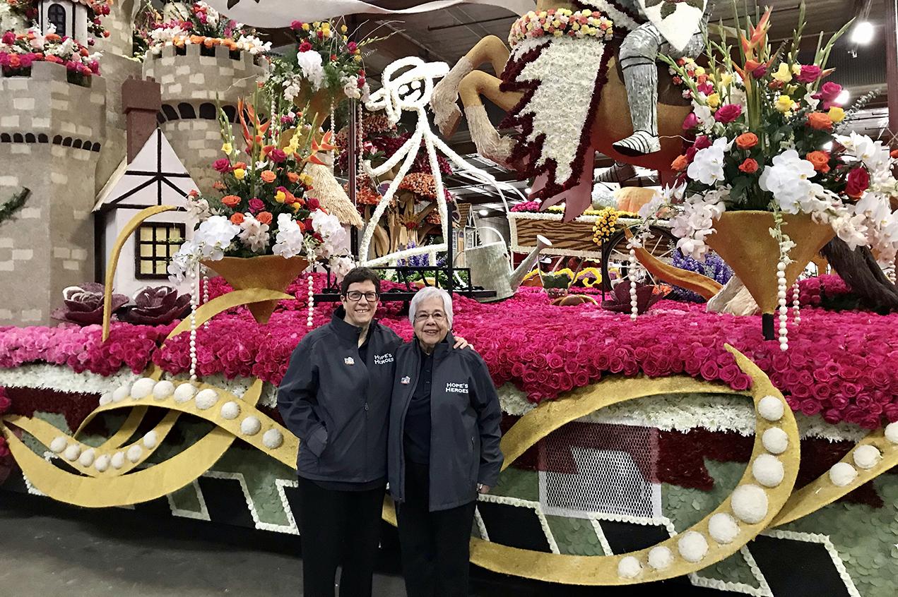 Mosqueda celebrates caregivers on Rose Parade float