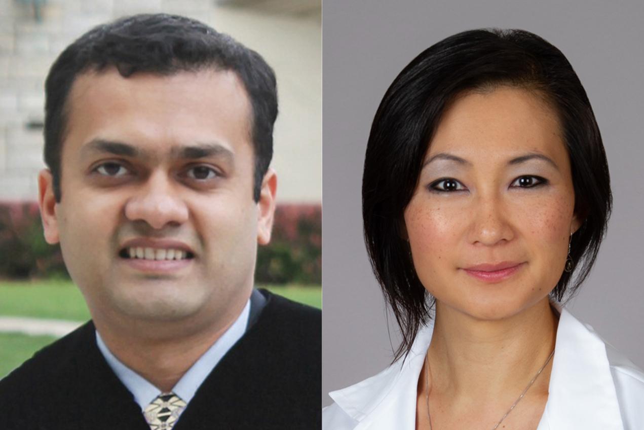 From left, Unmesh Jadhav and Kimberly Gokoffski