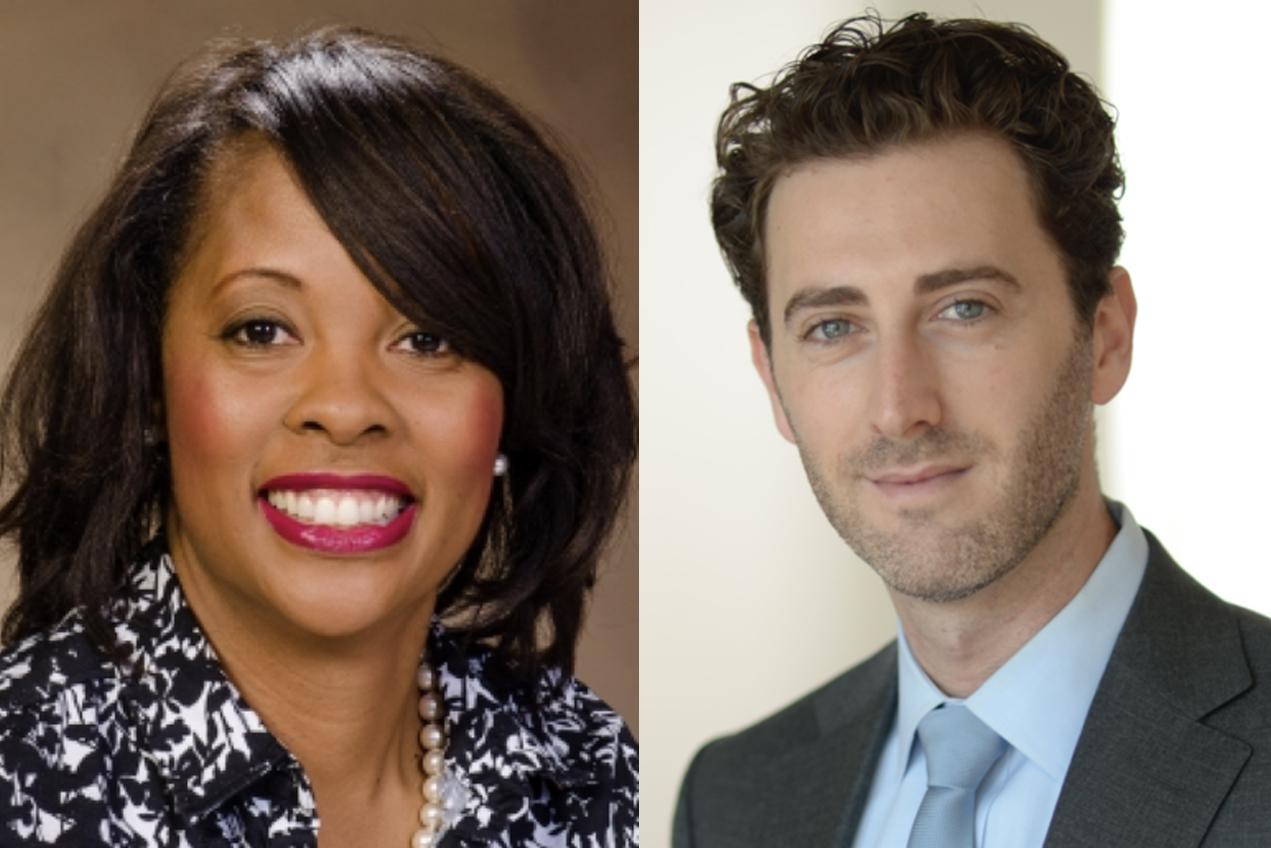 Tanisha Price-Johnson, left, and David Diller